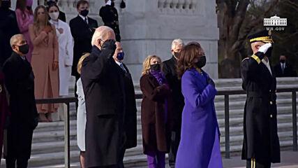 USA: Biden and Harris lay wreath at Arlington National Cemetery