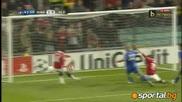 Манчестър Юнайтед 2 - 1 Челси!!! Манчестър Юнайтед отстрани Челси От Шл!!! 12.04.2011