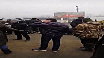Ukraine: Police detain protesters as dozens demonstrate against housing of Wuhan evacuees