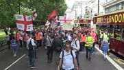 UK: Far-right EDL supporters march through central London