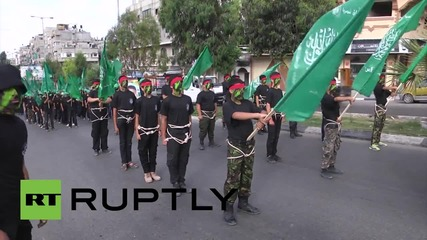 State of Palestine: 500 teenagers participate in Hamas 'Knights Camp' march in Gaza