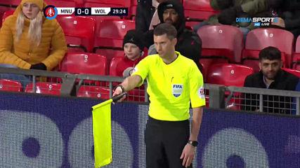 Манчестър Юнайтед - Уулвърхемптън 0:0 /първо полувреме/