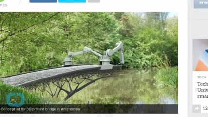Amsterdam Plans Printed Steel Bridge With Robotics and Software Firms
