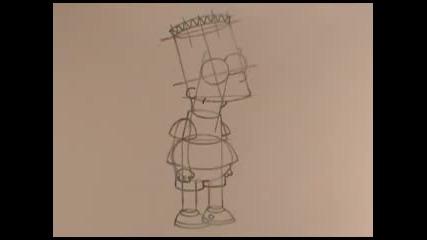 Рисуване на тялото на Барт Симпсън