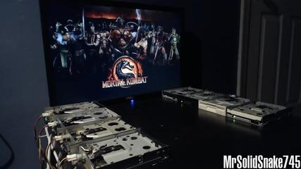 Mortal Kombat Theme от флопи дискове