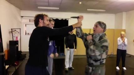 Защита от нож - курс самозащита #7 - майор Франц - док. видео - Проект Саозащита