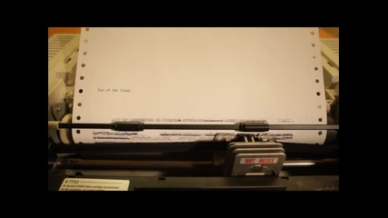 """eye Of Tiger"" изсвирена от dot matrix printer"