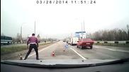 Нагъл шофьор на пътя