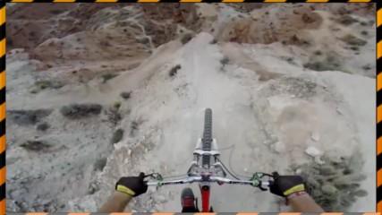По ръба! Екстремно каране на колело в планината!