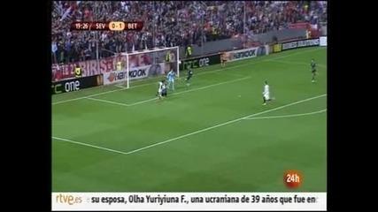"""""""Бетис"""" спечели градското дерби срещу """"Севиля"""" с 2:0"""