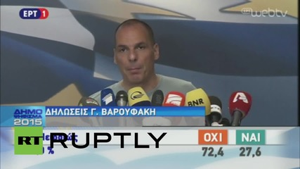 Greece: Varoufakis slams creditors as 'OXI' vote leads with 61 %