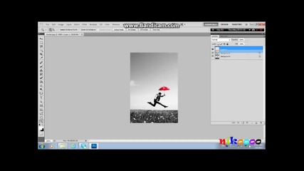 photoshop черно-бяло