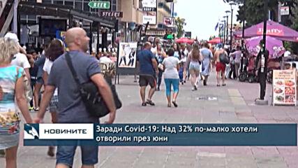 Заради Covid-19: Над 32% по-малко хотели отворили през юни