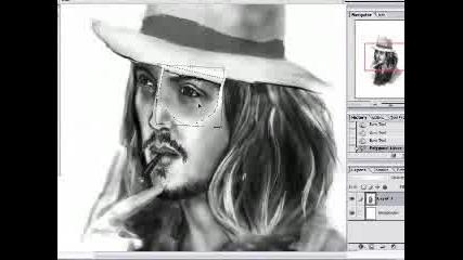 Нарисувай Johnny Depp На Компа !