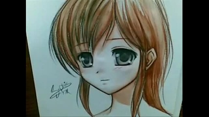 Drawing Anime using watercolor pencils