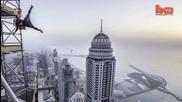 Изкачване в Дубай на най-високата жилищна сграда 425м.