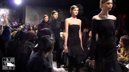 Fashion Week F_w '12 - Nina Dobrev And Donna Karan