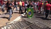 Brazil: Pro-Dilma supporters rail at Temer and Senate vote in Brasilia