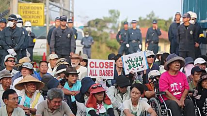 Japan: Protest mass outside US base following murder of Japanese woman