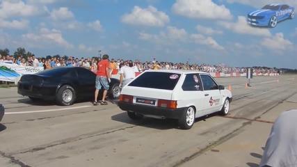 Тойота Супра срещу Лада Самара! Дали ги барат успешно двигателите руснаците?