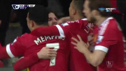 Манчестър Юнайтед - Уотфорд 1:0 /Висша Лига, 28-и кръг/