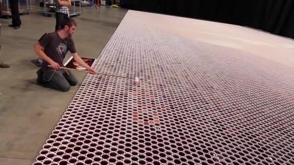 Невероятно - Мозайка от чаши с дъждовна вода