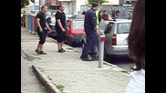 Полицаи арестуват надрусан - Бургас