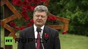Ukraine: Poroshenko reflects on the importance of maintaining peace