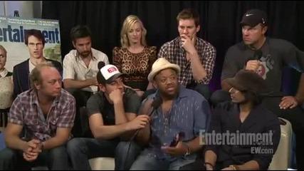 Ew Interview with Chuck cast - Comic Con 2011