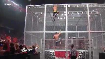 Wwe Raw 28_09_09 John Cena vs Jericho,big Show and Randy Hell In a Cell