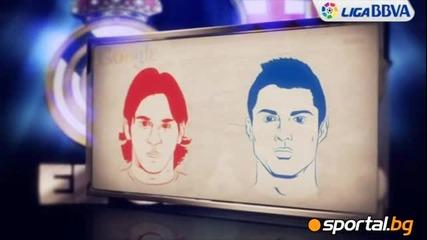 Меси срещу Роналдо в цифри