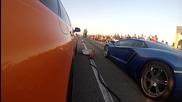 Българско! Audi Rs6 наказва Lamborghini Aventador в драг надпревара!!
