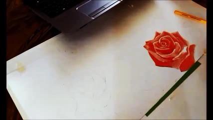 Надя рисува с химикал