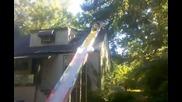 Пързалка на покрива