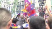 Spain: Thousands pour on to Barcelona streets as team takes La Lige title