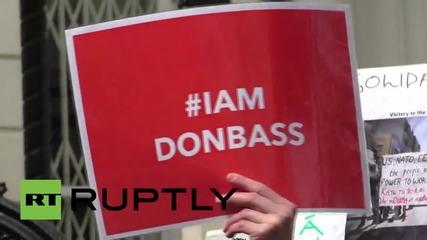 UK: Activists hold Odessa memorial outside Ukrainian Embassy in London