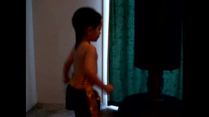Muay Thai Training the Boy 2nd Session