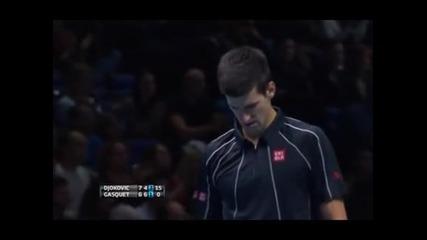 След три поредни победи Джокович на полуфинал в Лондон
