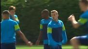Арсенал се подготвя за предстоящия сблъсък в ШЛ