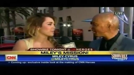 Miley Cyrus Red Carpet Interview