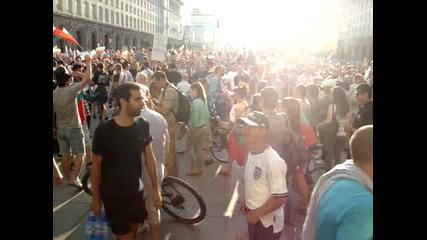 Дансwithme Протест - Опит на група младежи да предизвикат размирици - 18.06.2013 г