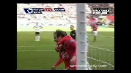 Манчестър Юнайтед - Фулъм 3:0 Хубав Гол На Митко Бербатов