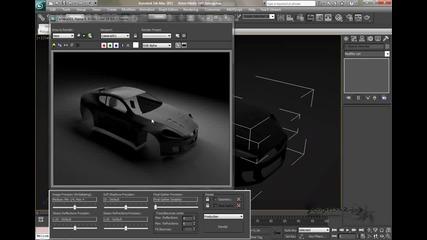 Vehicle Rendering в 3ds Max photo studio setup част 2