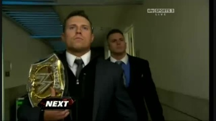 The Miz encounters the guy he shoved backstage