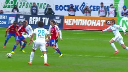 Георги Миланов с гол за Цска Москва в дербито срещу Зенит