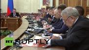 Russia: Transport Minister Sokolov briefs Medvedev on flight 7K9268 investigation