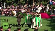 САЩ: Папа Франциск и Обама с обръщение към публиката пред Белия Дом