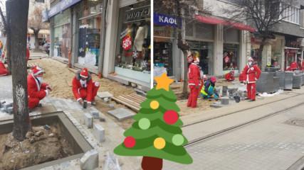 Дядо Коледа и джуджетата ремонтират ''Граф Игнатиев