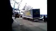 Insane truck driver