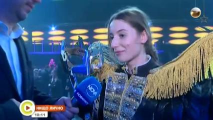 Михаела Маринова е големият победител в Маскираният певец